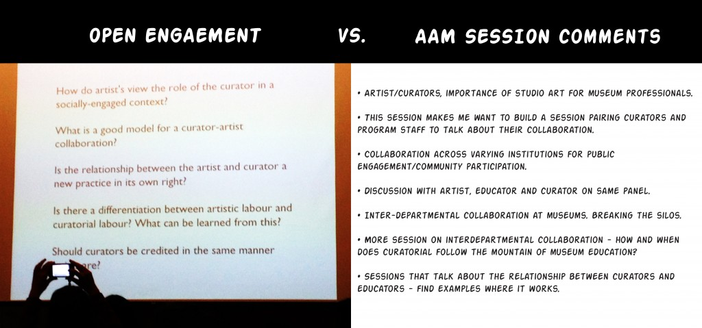 Open Engagement vs. AAM Experimental Museum Projects