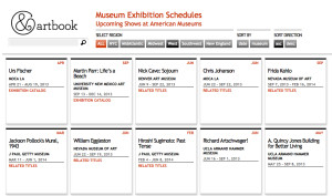 Art Museum Exhibitions Schedule